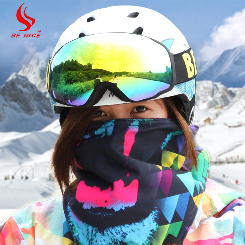 Waterproof Ski Snowboard Goggles , Anti Fog Head Ski Goggles For Sports