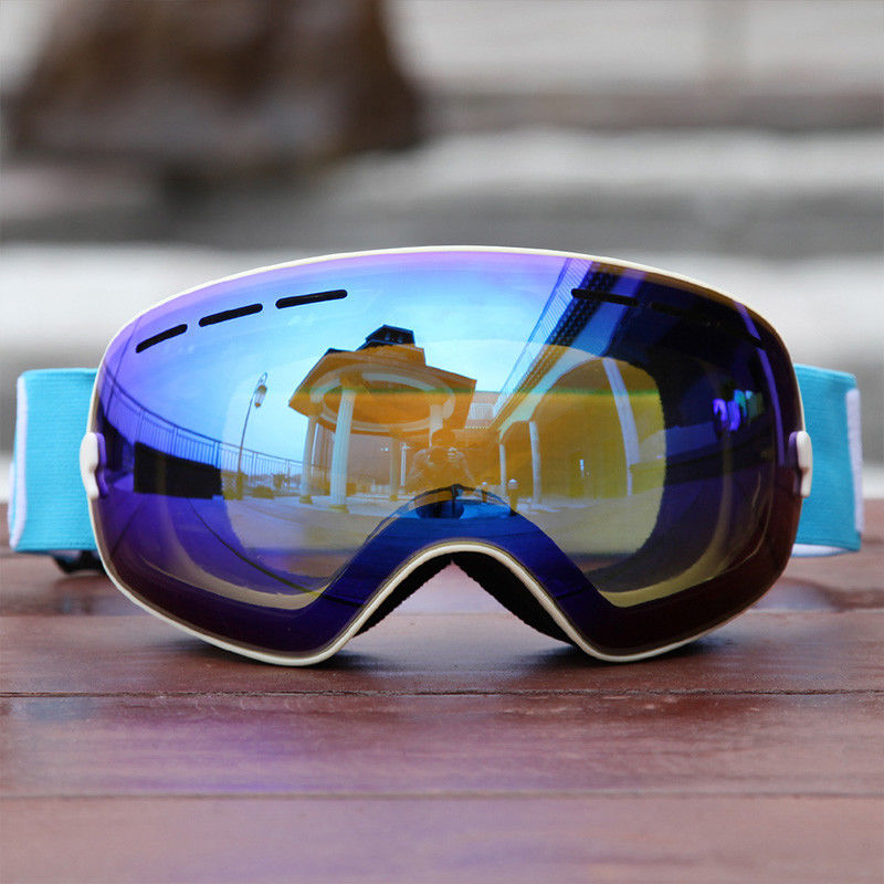 Durable Snow Ski Goggles Fit Over Glasses With High Density Lens Technology