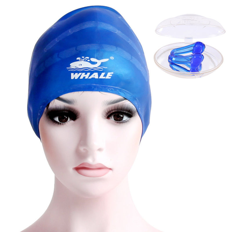 Summer Swimming Cool Silicone Swim Caps Prevent Hair From Getting Wet