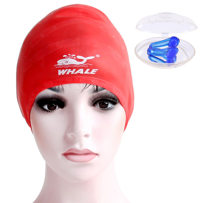 Custom Popular Red Swimming Hat , Stylish Swim Caps For Girls With Long Hair