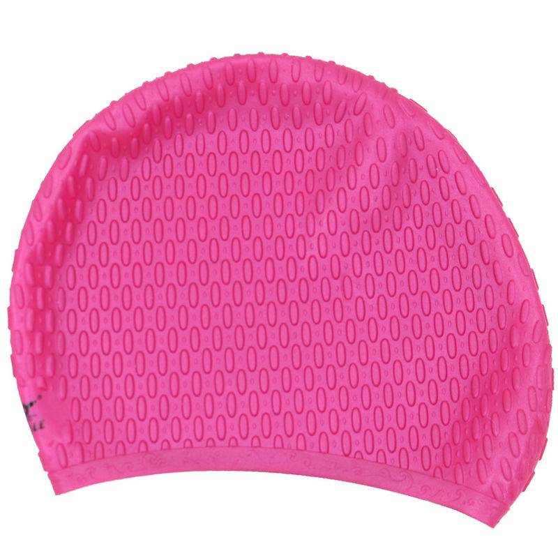 Rose Red Swimming Cap , Personalized Swim Cap That Keeps Hair Completely Dry