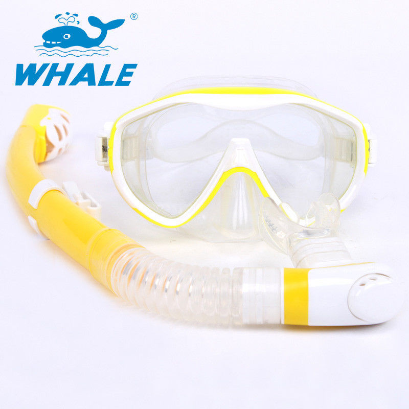 Light Weight Swim Mask Snorkel Set , Fashion Color Professional Snorkeling Set