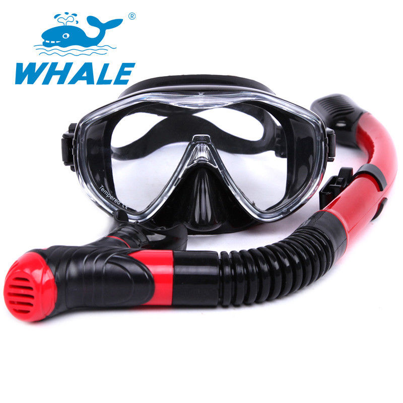 Dry Top Diving Snorkel Set , Swim Mask And Snorkel Set For Water Sports Equipment