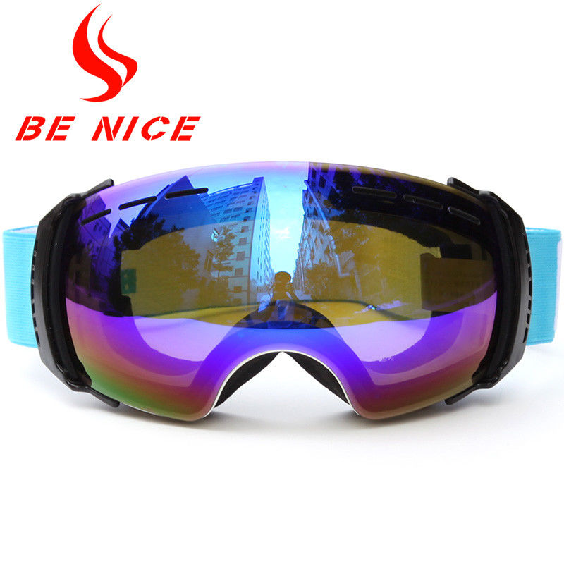 Double Lens Interchangeable Ski Goggles Wear Resistant For All Helmet