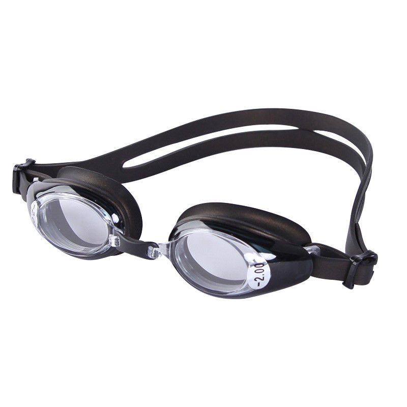 High Performance Optical Swim Goggles With Corrective Lenses , Silicone Gasket