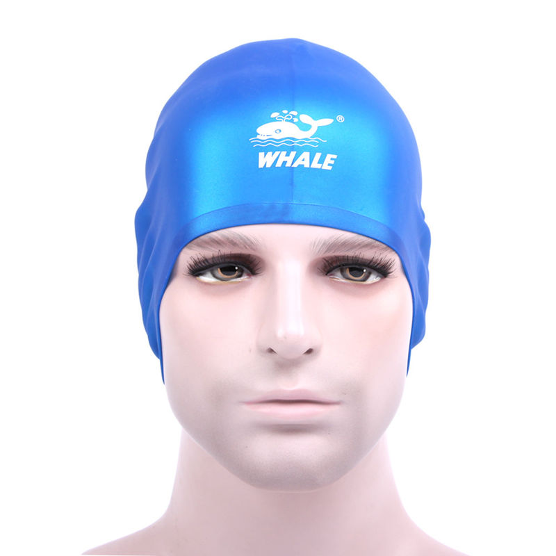 Premium Silicone Long Hair Swim Caps Odorless With PVC Zipper Bag Packing