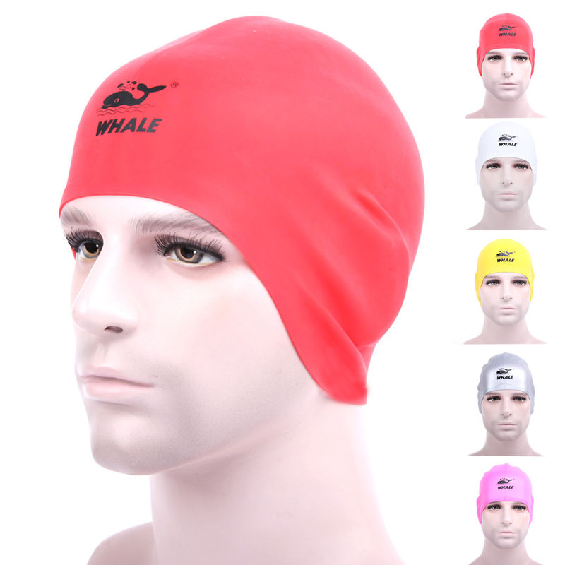 Red Snug Fitting  Long Hair Swim Caps Cold Resistance For Girls Protect Long Hair