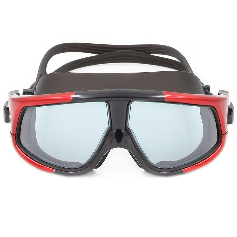 Multi Color Stylish Sports Swimming Goggles Super Big Lenses For Adults