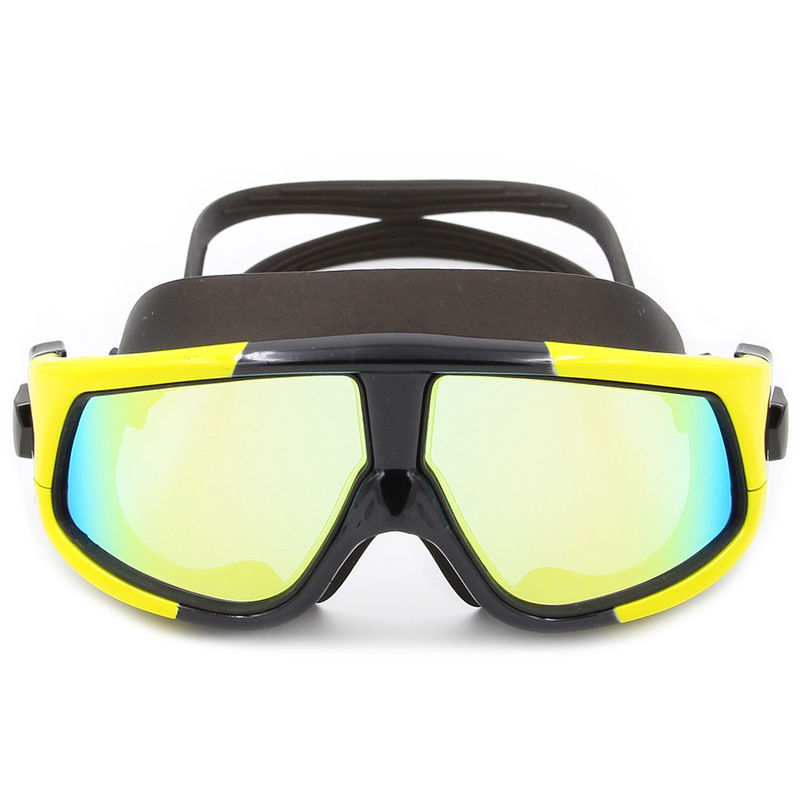 Silicone Gasket Mirrored Swim Goggles High Clear PC Lens For Summer Sports
