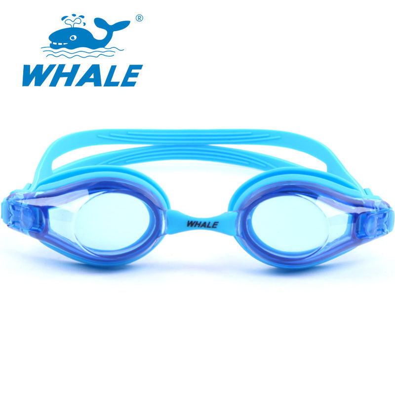 Blue Hypoallergenic Silicone Swimming Goggles For Kids And Early Teens