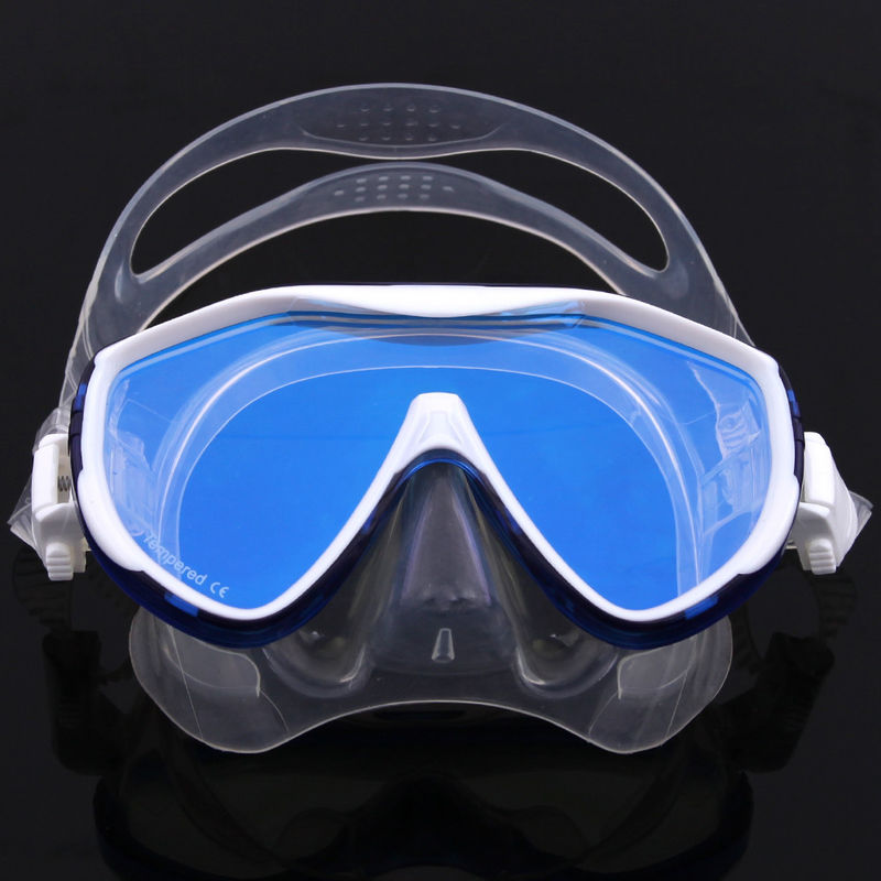 Tempered No Fog Dive Mask with Silicone Skirt Soft Flexible Silicone Strap