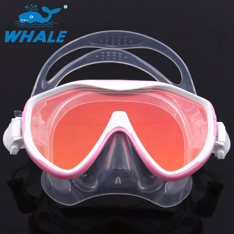 Scuba Adjustable Scratch resistant Diving Mask Silicone Skirt Tempered Glass Lenses