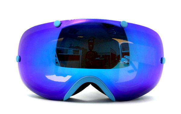 100% UV Protection Helmet Compatible Anti-fog Snow Goggles WIth Interchangeable lenses