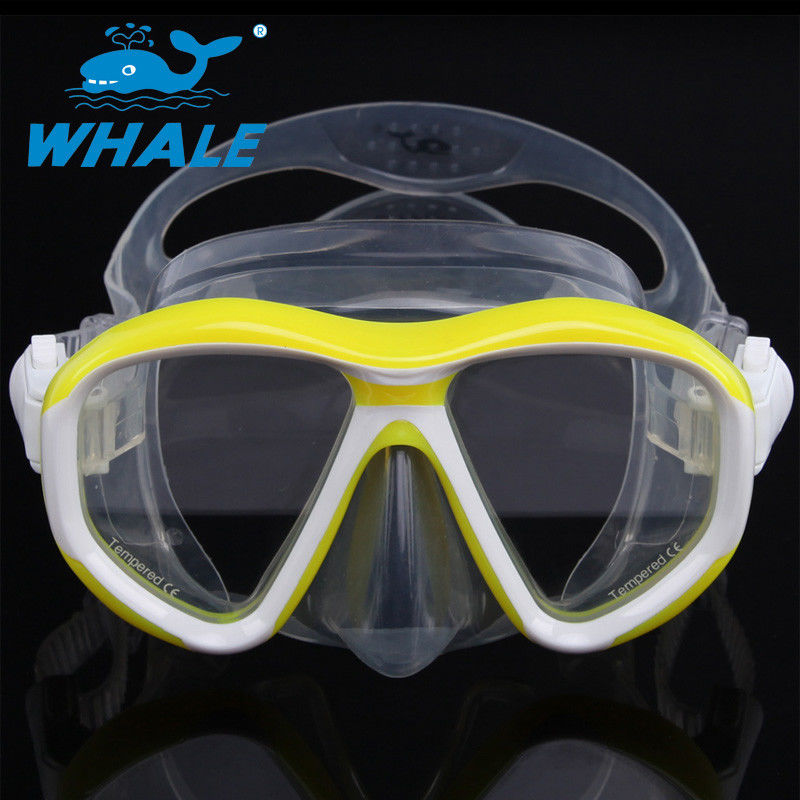 Detachable Ornamental Pieces Liquid Silicone Diving Mask Double-skirt and Strap